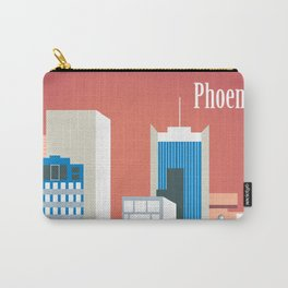 Phoenix, Arizona - Skyline Illustration by Loose Petals Carry-All Pouch