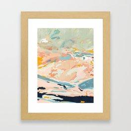 abstraction landscape in pastels Framed Art Print