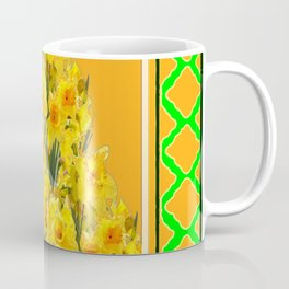 SPRING GREEN YELLOW DAFFODIL GARDEN ART PATTERN Coffee Mug
