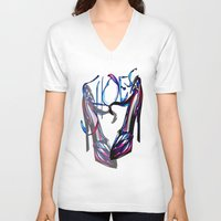 shoes V-neck T-shirts featuring Shoes by Digital-Art