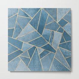 Dusk Blue Stone Metal Print