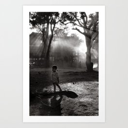 "Little Boy in Central Highland of Vietnam - ""VACANCY"" zine Art Print"