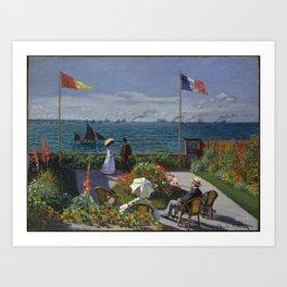 Claude Monet - Garden at Sainte-Adresse (1867) Art Print
