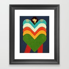 Queen of Hearts Framed Art Print
