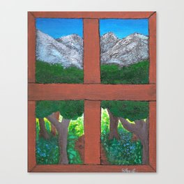 Window To The World Canvas Print