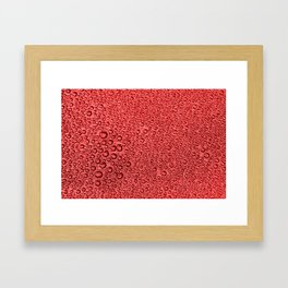 Water Condensation 05 Red Framed Art Print
