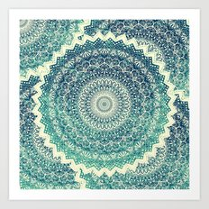 BICOLOR COLD WINTER MANDALA Art Print