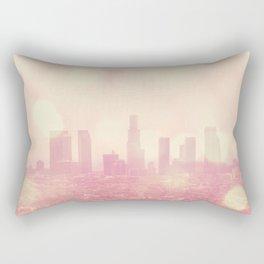City of Dreamers. Los Angeles skyline photograph Rectangular Pillow
