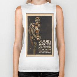 Vintage poster - Books Wanted Biker Tank