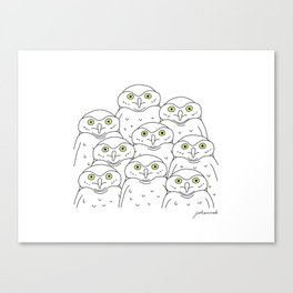Group of Owls Canvas Print