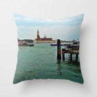 venice Throw Pillows featuring Venice by Art-Motiva