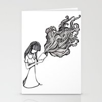 reading Stationery Cards featuring Reading by Delilah Franco