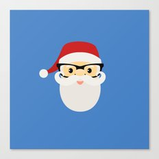 Hipster Santa Claus Canvas Print