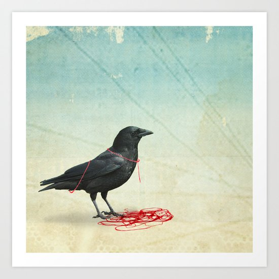 freedom  _ black crow Art Print