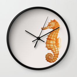 Watercolor Seahorse Wall Clock