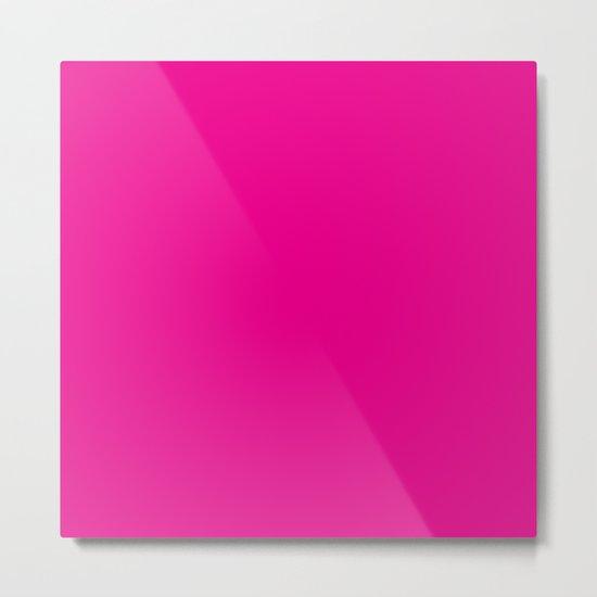 Simply Magenta Pink Metal Print