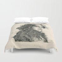 child Duvet Covers featuring Eden Child by NVM Illustration