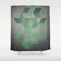 moss Shower Curtains featuring Moss & Gray  by DuckyB