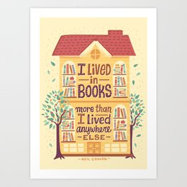 Lived in books Kunstdrucke