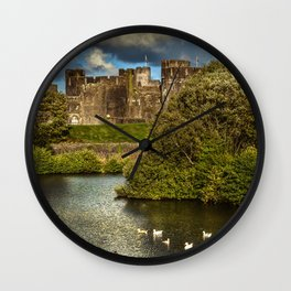 Caerphilly Castle Western Towers Wall Clock