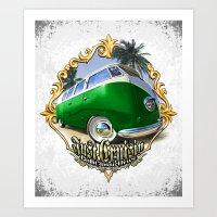 VW T1 Bus - Just cruisin' Art Print