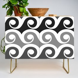Black and White Waves Credenza