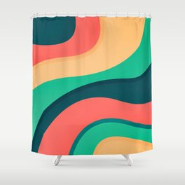 The river, abstract painting Shower Curtain