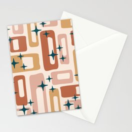 Retro Mid Century Modern Abstract Pattern 125 Stationery Cards