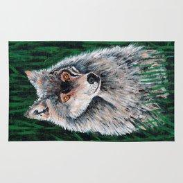 Grey Canadian Wolf Rug