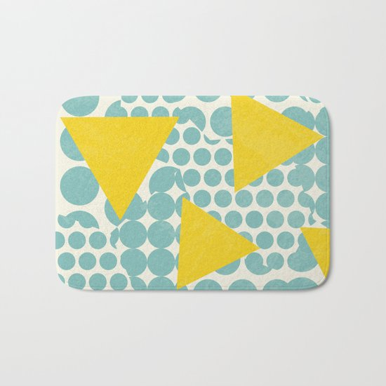 Dots and Triangles Bath Mat