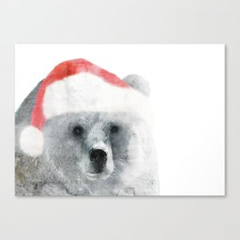 Christmas Teddy Bear Canvas Print