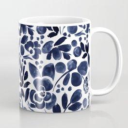 Navy Floral - medium Coffee Mug