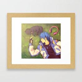 Dramatical Murder-Aoba & Ren Framed Art Print