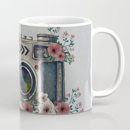 Camera with Summer Flowers Coffee Mug