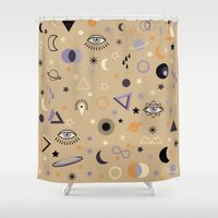 universe Shower Curtains featuring Universe by Marta Olga Klara