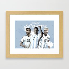 Argentina National Team Poster 2016 Framed Art Print