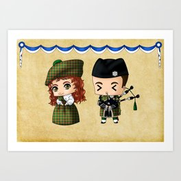 Scottish Chibis Art Print