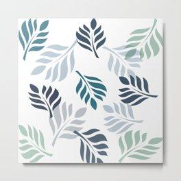 Leaf simple  pattern Metal Print