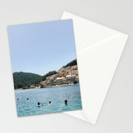 Bathers in Croatia. Stationery Cards