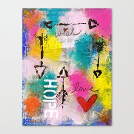 Wish Love Hope Canvas Print
