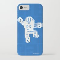 megaman iPhone & iPod Cases featuring Megaman Typographique by Boidin