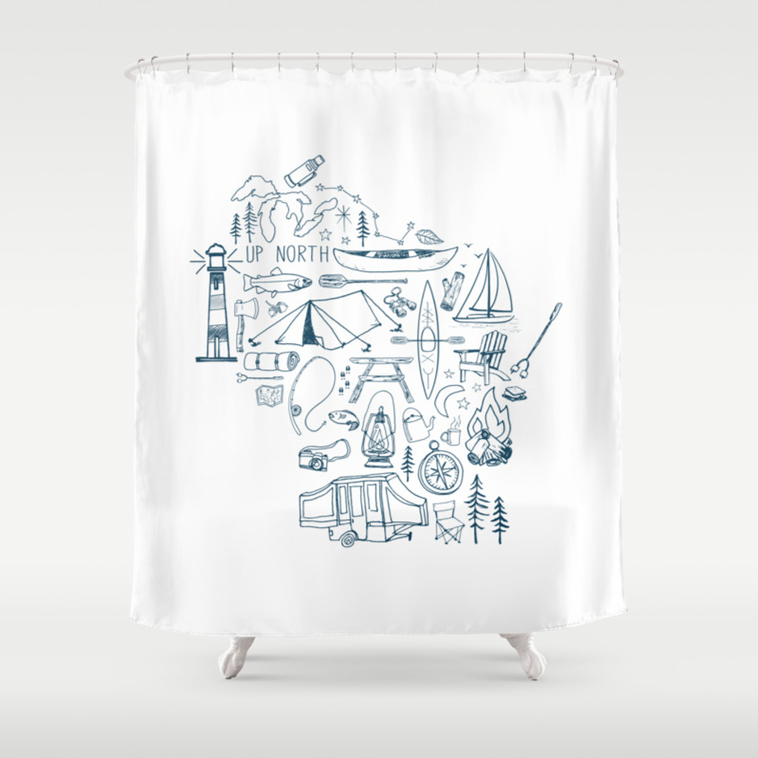 Collage Shower Curtain