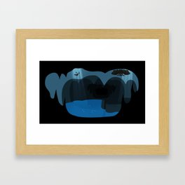 Bat cave Framed Art Print