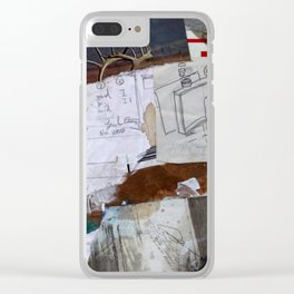 The way to paint is drunk, on my belly, on the floor. Clear iPhone Case