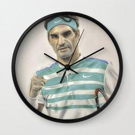 Roger Federer - Realism Wall Clock