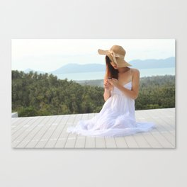 Beautiful Ladyboy Tang in Summer Dress Canvas Print