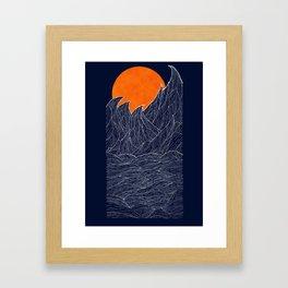 The White Waves Framed Art Print