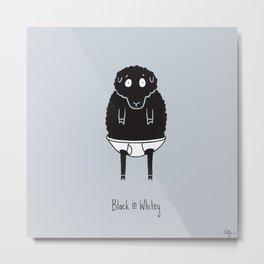 Black in Whitey Metal Print