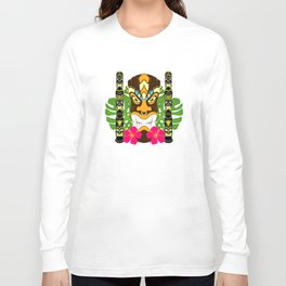 Tiki Statue & Totems Long Sleeve T-shirt
