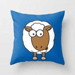 Ooh Zoo – farm-series, Sheep Throw Pillow